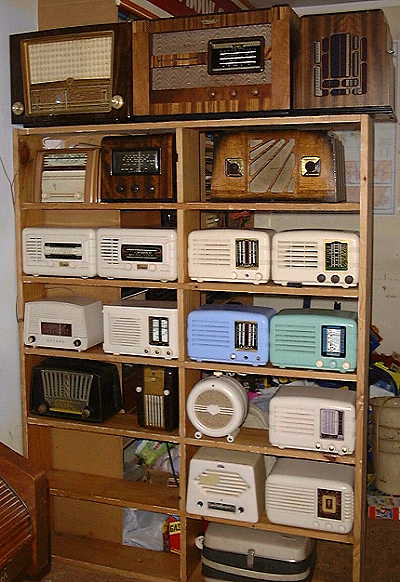 Some of the radios in a later setting