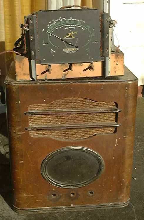 Courier Radio before restoration.