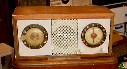 Philco Model 804 Clock Radio.