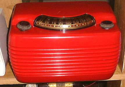 Red Philco Radio