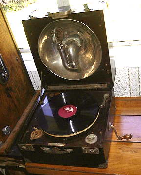 Thorens Phonograph with reproducer stowed away.