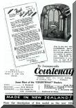 Courtenay radio advertisement from 1934.  Click for full size image.