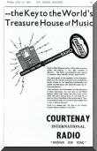 Advertisement for Courtenay radios, 1935.  Click for full size image.