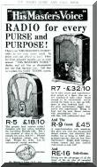 HMV Radio advertisement from 1932. Click to view full size image.