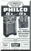 Advertisement for Philco Radios 1935