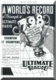 Advertisement for 1936 Ultimate Radios.